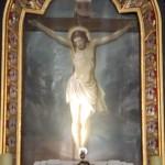 Obraz   w   głównym   ołtarzu - ukrzyżowanie