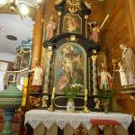 """Ołtarz   """"zdjęcia  Chrystusa  z  krzyża"""""""